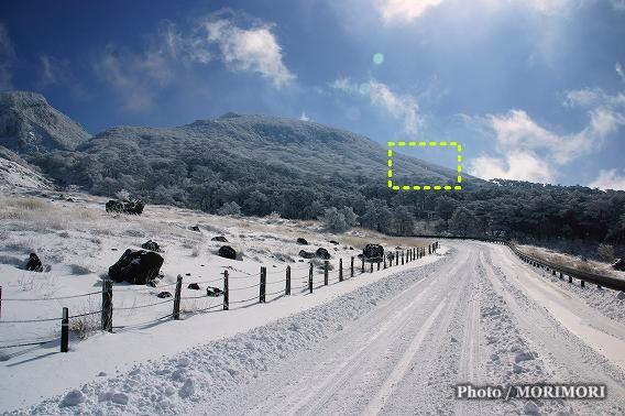 雪のえびの高原でダイヤモンドダスト 01