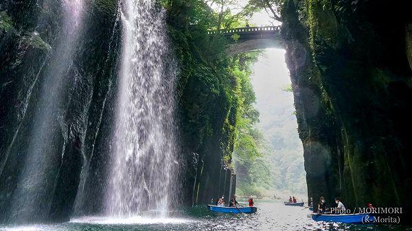 高千穂峡 真名井の滝 御橋(ボートより撮影)3