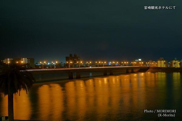 大淀大橋の夜景 宮崎観光ホテル西館4階