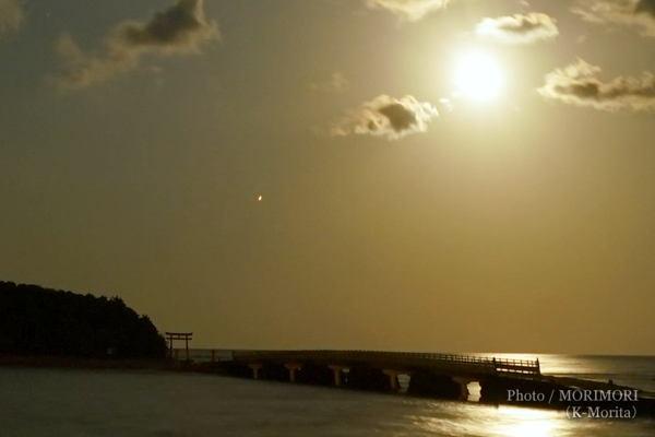 月と火星(2020/10/02 青島にて)
