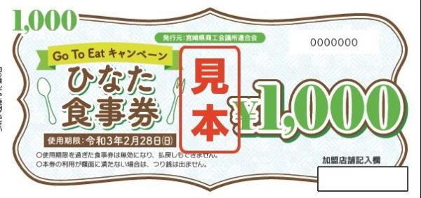 GoTo Eat ひなた食事券