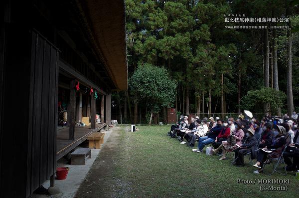 嶽之枝尾神楽(公演会場:宮崎県総合博物館 民家園)
