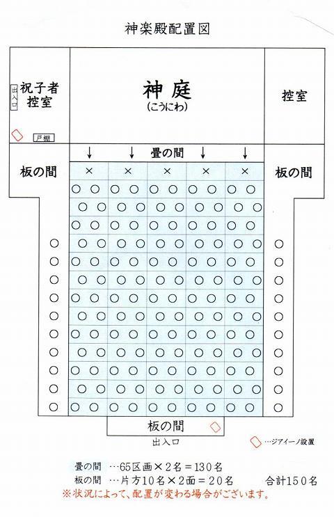 座席説明(配布物)