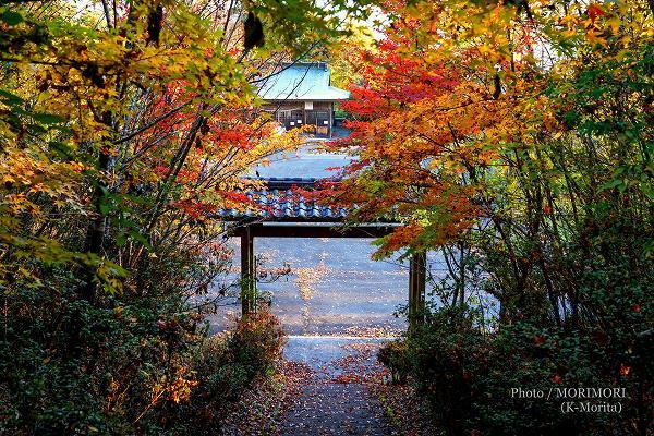 山門と中畑神社遥拝宮
