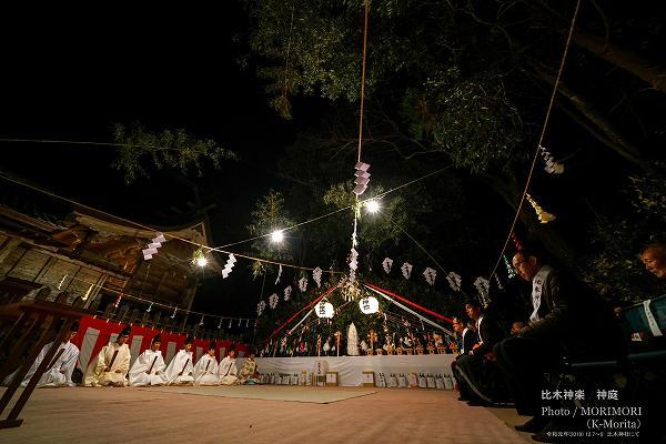 比木神楽(比木神社) 神庭とヤマ