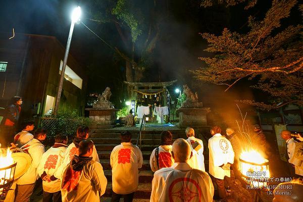 師走まつり 美郷町南郷区神門神社参道での神楽奉納